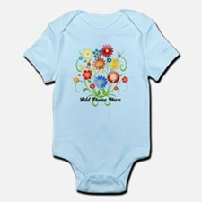 Personalized floral light Infant Bodysuit