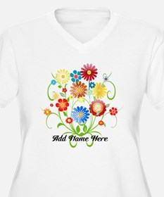 Personalized floral light T-Shirt