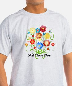 Personalized floral T-Shirt