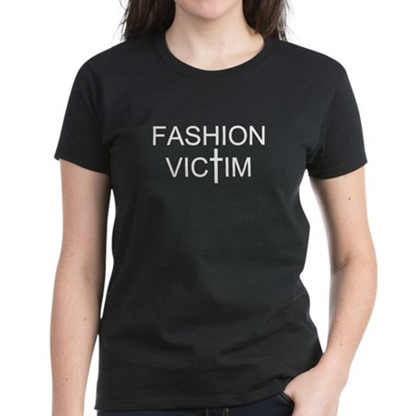 Fashion Victim - Women's T-Shirt (White text)