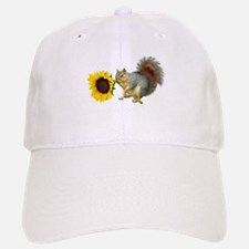 Squirrel Sunflower Baseball Baseball Cap