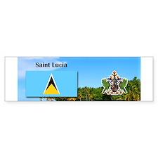 Saint Lucia.jpg Bumper Sticker