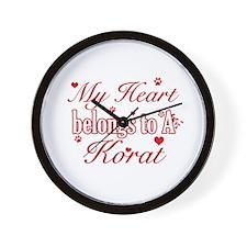 Cool Korat Cat breed designs Wall Clock