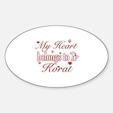 Cool Korat Cat breed designs Sticker (Oval)