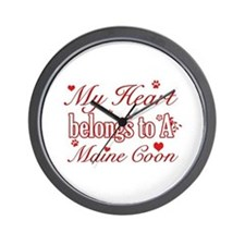 Cool Maine Coon Cat breed designs Wall Clock