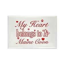 Cool Maine Coon Cat breed designs Rectangle Magnet