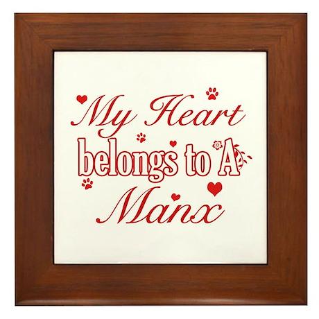 Cool Manx Cat Breed designs Framed Tile