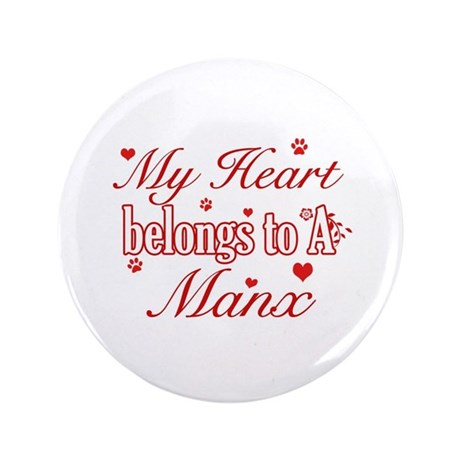 """Cool Manx Cat Breed designs 3.5"""" Button"""