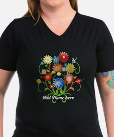 Personalized floral dark Shirt