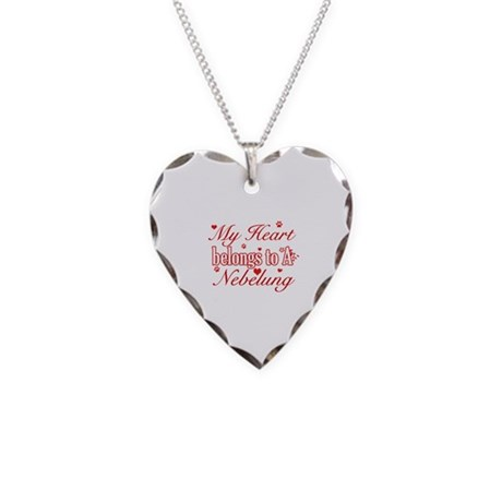 Cool Nebelung Cat Breed designs Necklace Heart Cha