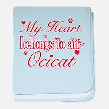 Cool Ocicat Cat breed designs baby blanket
