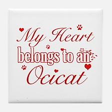 Cool Ocicat Cat breed designs Tile Coaster