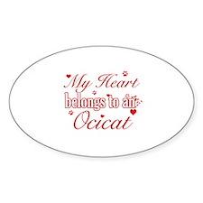 Cool Ocicat Cat breed designs Sticker (Oval)