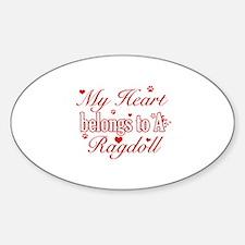Cool Ragdoll Cat breed designs Sticker (Oval)