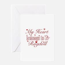 Cool Ragdoll Cat breed designs Greeting Card