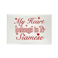 Cool Siamese Cat Breed designs Rectangle Magnet (1
