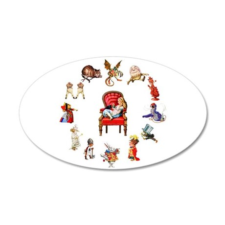 Alice in Wonderland 20x12 Oval Wall Decal