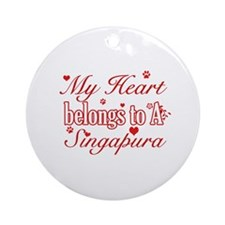 Cool Singapura Cat Breed designs Ornament (Round)