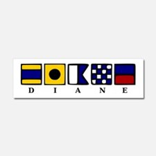 Nautical Diane Car Magnet 10 x 3