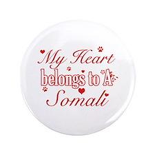 "Cool Somali Cat breed designs 3.5"" Button"