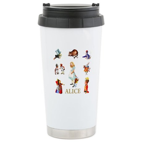 Alice In Wonderland Stainless Steel Travel Mug
