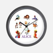 Alice In Wonderland Wall Clock