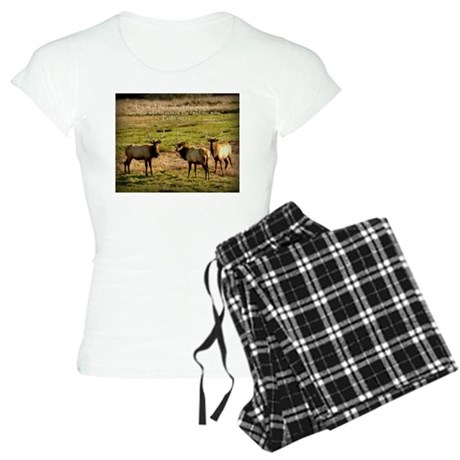 3 Bull Elk, Psalm 50:11 Women's Light Pajamas