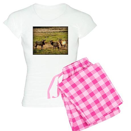 3 Bull Elk, Psalm 50:11 Women's Light Pajamas