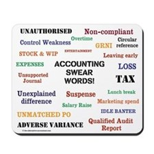 Accounting Swear Words Rude Mousepad