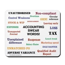 Accounting Swear Words Rude Mousepad