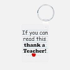 Thank a teacher Keychains