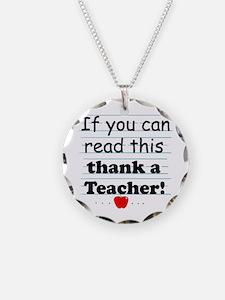 Thank a teacher Necklace