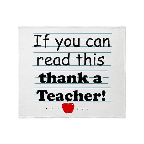 Thank a teacher Throw Blanket
