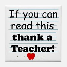 Thank a teacher Tile Coaster