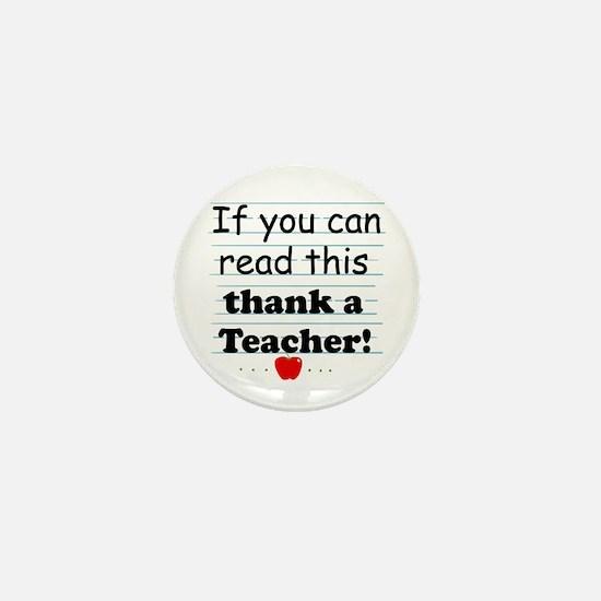 Thank a teacher Mini Button