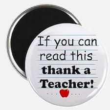 Thank a teacher Magnet