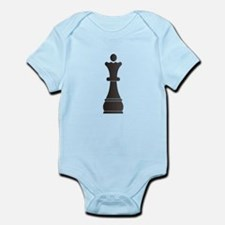 Black queen chess piece Body Suit