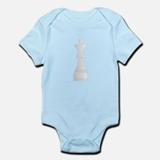 White queen chess piece Body Suit