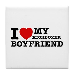 Kickboxer designs Tile Coaster