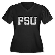 FSU, Vintage, Women's Plus Size V-Neck Dark T-Shir
