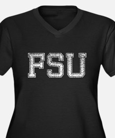 FSU, Vintage, Women's Plus Size V-Neck Dark T-Shir