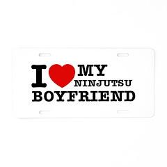 Ninjutsu designs Aluminum License Plate