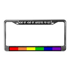 """Come Out"" License Plate Frame"