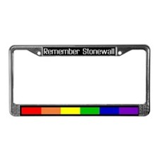 """Remember Stonewall (white)"" License Plate Frame"