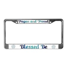 """Pagan & Proud"" License Plate Frame"
