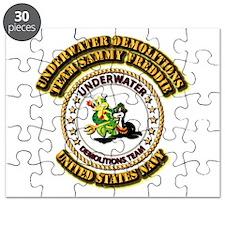 US Navy - Emblem - UDT - Sammy - Freddie Puzzle