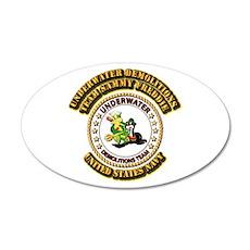 US Navy - Emblem - UDT - Sammy - Freddie 22x14 Ova