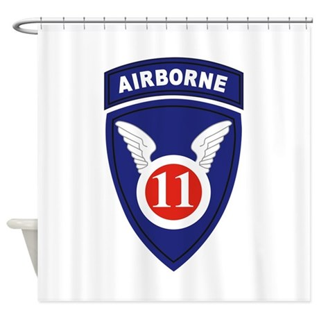 11th Airborne division.png Shower Curtain