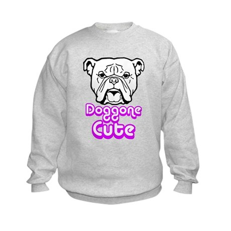 Doggone cute.png Kids Sweatshirt