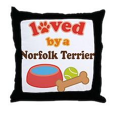 Norfolk Terrier Dog Gift Throw Pillow